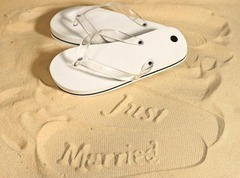 Chinelo Marcador de Areia Just Married Feminino