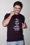 Camiseta - Keep Calm and Shoot Yourself Naked