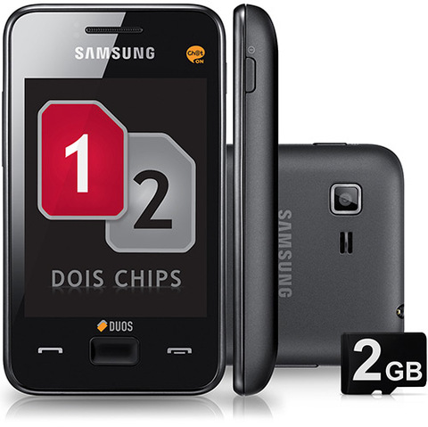 Samsung Star 3 Duos S5222 Preto Dual Chip Cam 3.2mp Wifi Mp3