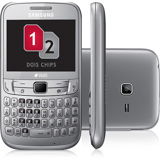 Samsung S3572 Chat 357 Cinza Dual Chip Wifi Mp3 Radio fm