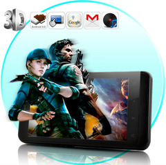 Telefone 3D Mobile Screen - Android 4.0, 4,3 polegadas tela QHD