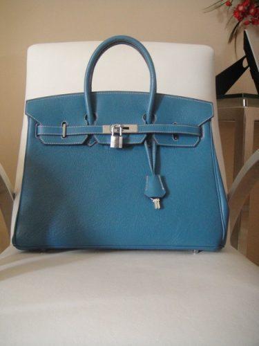 Bolsa De Couro Legitimo Azul : Bolsa prada azul em couro original cm car