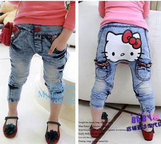 Calça Jeans Hello Kitty