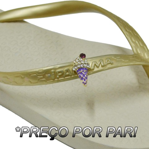 PAR DE PIERCINGS PARA CHINELO - SORVETE ROXO - 1900241152