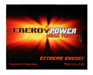Energy Power Mega Turbo - 4 Cápsulas