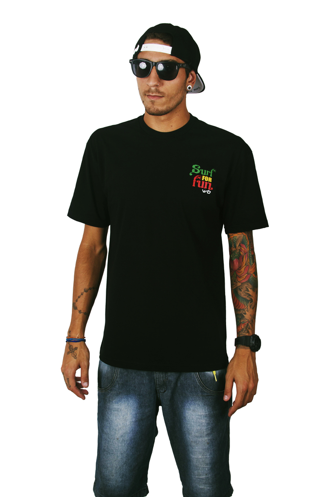 Camiseta Surf For Fun Preta