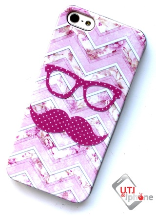 CAPA PARA IPHONE 5/5S - MUSTACHE AND GLASSES