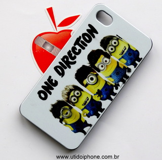 Capa para IPhone 4/4s Minios - One Direction