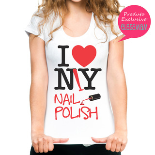 T shirt Exclusiva Elas Amam - I ♥ my nail polish