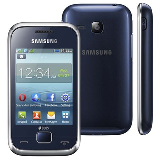 Samsung Rex 60 C3313T Azul com Dual Chip, Tv Digital, Câmera 2MP, Rádio FM, MP3, Bluetooth, Touch Screen, Fone