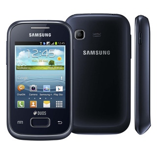Samsung Galaxy Pocket Plus Duos Preto GT-S5303 com Dual Chip, Android 4.0, Wi-Fi, 3G, GPS, Câmera 2MP, FM, MP3