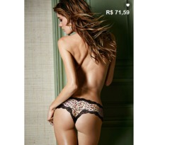 CALCINHA LACE-TRIM CHEEKY - VITORIA SECRET (316881)