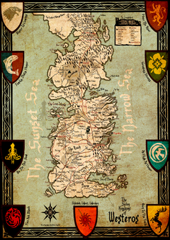 Poster - Game of Thrones l Mapa 7 Reinos de Westeros