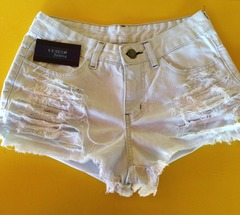 Short jeans off white detonado