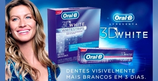 Fita Clareadora  Dental - Clareador Dental Oral B 3D WhiteStrips