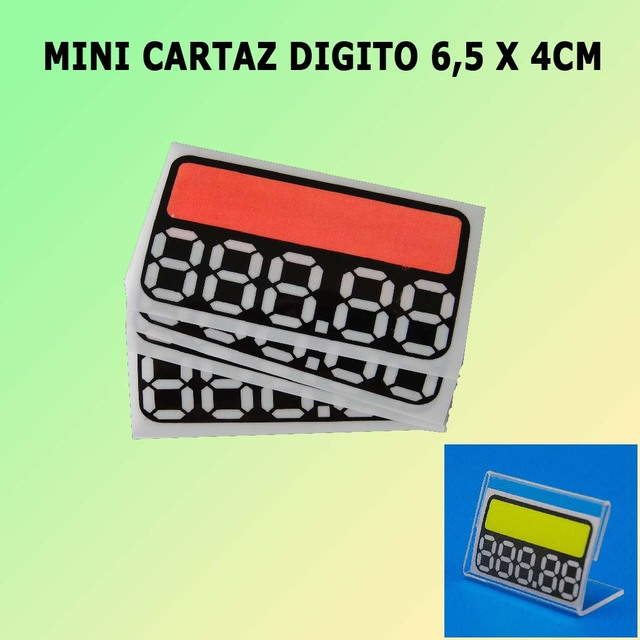 Mini Placa Digito 6,5 x 4cm